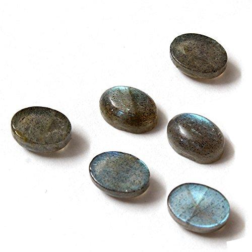 Be You Gris Couleur Naturelle Afrique Labradorite AA Qualité 7x5 mm Taille Cabochon Ovale Forme Pierres précieuses en Vrac 5 Pièces