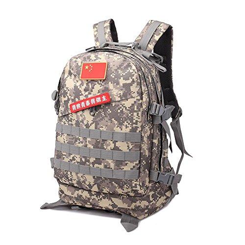 40L taktischer Rucksack Wasserdichte Oxford Outdoor 3D Camouflage Outdoor Rucksack Klettern Wandern Camping acu