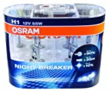 OSRAM 64150NBR H1 12V 55W NIGHT BREAKER 2er-Pack...
