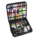 CODIRATO Kit de Costura Profesional, 106 Piezas Accesorios de Costura Premium con una Bolsa de Costura, Kit de Costura de Viaje para Bricolaje, Principiantes