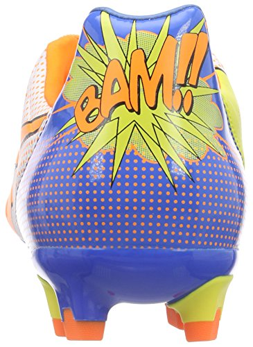 Puma Evopower 2.2 Pop Fg, Chaussures de football homme Blanc - Weiß (white-orange clown fish-electric blue lemonade 01)