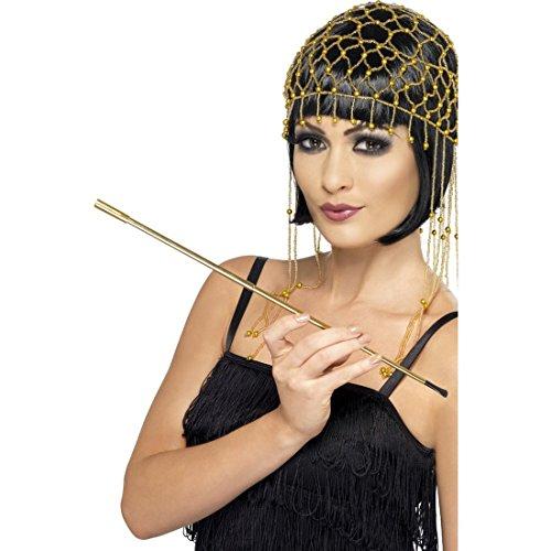 Goldener Zigarettenhalter lange 20er 30er Jahre Zigarettenspitze gold Charleston Zubehör Zigaretten Halter Kostüm - Zigaretten Halter Kostüm