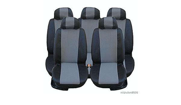 5x Sitze Kunstleder Sitzbezüge Schonbezüge Schonbezug Schwarz Grau Auto