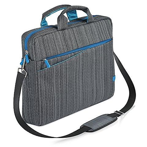 CSL - Notebooktasche für Notebooks bis 13,3 Zoll (33,7cm)   Laptop Tasche / Schultertasche   mit Zubehör-Fächern und widerstandsfähigen Polsterwänden   schmutz- und wasserabweisend