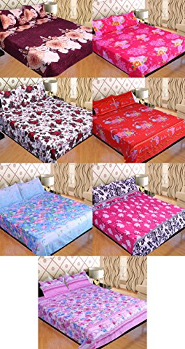 SUPER HOME COMBO 7 BEDSHEETS WITH 14 PILLOW COVERS