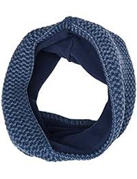 maximo Tube, Waschoptik, Used Look, Foulard Tour de Cou Fille, Blau (Denim 40), Taille Unique