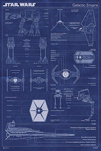Erik Publishers Group GPE 4891 - poster di Star Wars Impero Galattico macchina, 61 x 91.5 cm