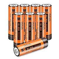 8imah HR6AA Piles rechargeables pré-chargées 2400mAh Haute Capacité