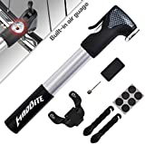 ★Maybe the Best Mini Bike Pump on Amazon★ ---★Halloween Sales★--- ★UP to 37% OFF ★MadBite® Mini Bike Air Pump 120PSI Telescopic, Compact & Portable Bicycle Frame Pump ★Easy-Read Gauge ★BONUS 2 Tire Bars, 6-Piece Glueless Puncture Repair Kit, 1 Inflation Needle ★Fits Presta and Schrader Air Valves ---★Lifetime Warranty★---