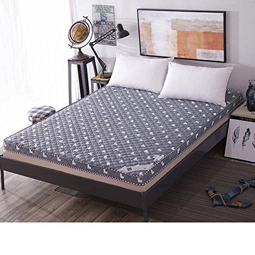 Yellow star Baumwolle Atmungsaktiv Tatami matratze, Doppel Bett Schutz Pad studentenwohnheim Einzelne Futon-matratze Topper Quilted Anti-Rutsch-bodenmatte-A 120x200cm(47x79inch)
