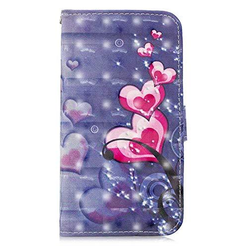 Bear Village® Hülle für Huawei Honor 10 Lite, Magnetisch Adsorption PU Klapp Hülle mit Standfunktion, Brieftasche Stil Schutzhülle, Violett 1