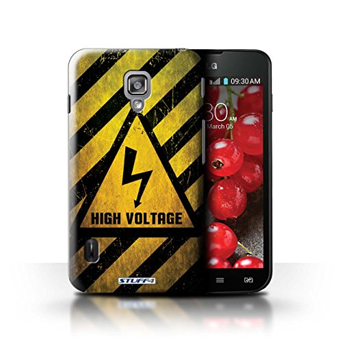 Kobalt® Imprimé Etui / Coque pour LG Optimus L7 II Dual / Bruit/Musique conception / Série Signes de Danger électricité