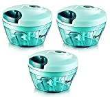 #8: Pigeon Handy Chopper, Triple Blade, Green Colour With Pull Cord Technology (Set Of 3 Pcs.)