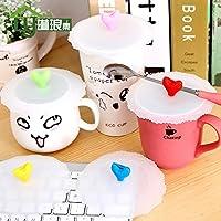 Bluelover Amore forma coperchio della tazza tazza di caffè del Silicone tenuta polvere prova a tenuta Mug copertura -