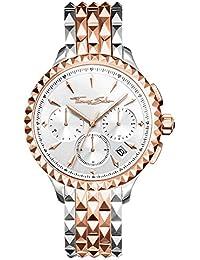 Thomas Sabo Reloj Cronógrafo para Mujer de Cuarzo con Correa en Acero Inoxidable WA0347-277