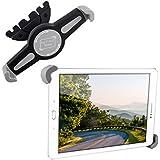 "kwmobile Soporte para tablet de coche ranura de CD para 7 - 10,5"" Tablet en negro - Coche automóvil compartimento CD soporte"