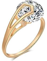 La Vogue Bague Infini Solitaire Zircon Cristal Femme Saint-Valentin Cadeau Fantaisie Femme 6.5#