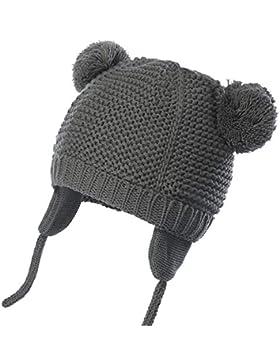 WELROG Unisex - Baby Mütze Beanie Strickmütze Kleinkind Warm Mütze Hut Winter Earflap