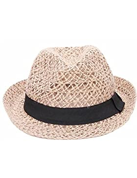 JUNGEN Las mujeres Sun paja sombrero plegable ala ancha de viaje de la  playa de proa 3dc183302d3