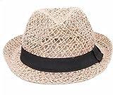 Wicemoon Frauen Sonnenhüte Strand Outdoor Sonnenhut British Leinen Jazz Hat Frauen Flut Paar Stroh Mesh Hollow Hat