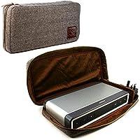 Tuff-luv Bose Soundlink Bleutooth Speaker III Tweed à chevrons Étui voyage Housse Sac et étui de protection [Y compris NFC pour l'appariement Bleutooth] - Brun