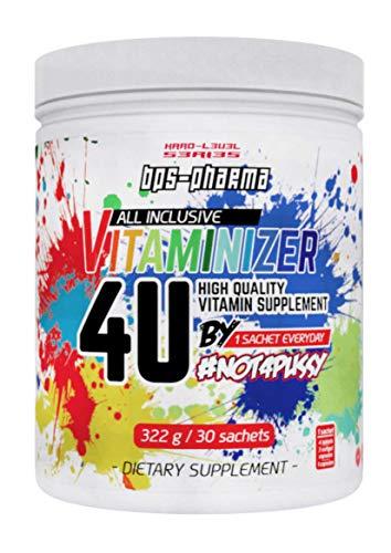 BPSPharma Vitaminizer – 4U – Multivitamin Pack Gelenke Mineralien Vitamine Zinc Bisglycinate Calcium Magnesium / 30 Portionen