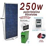 Kit Solar 12v Plus 250w Hora Inversor 1000w AGM TFS 250AH