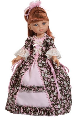 Paola Reina - Nastia, muñeca vestida de la época romántica, 32 cm (04552)