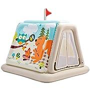 La casetta-tenda gonfiabile per bambini, un prodotto simpatico, allegro e sicuro per il divertimento dei vostri bimbi! Grazie alla tenda i bambini potranno giocare per ore fingendosi piccoli campeggiatori, stimolando creatività e immaginazion...