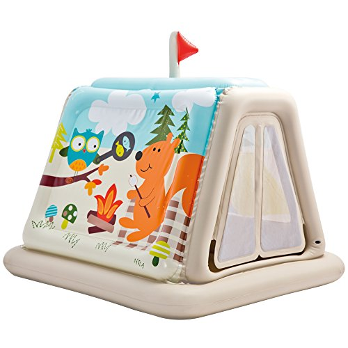 Intex 48634np - Casetta Gonfiabile Campeggio, 127 x 112 x 116 cm, Multicolore