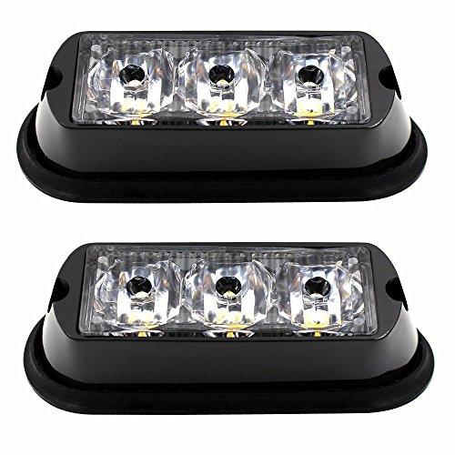 3 LED strobe lumière étanche d'urgence Beacon Lampes Flash, Purishion Caution Barre 12 différents clignotant de voiture SUV camionnette van