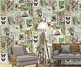 Meaosyy Vintage Weltkarte Tapete SelbstklebendePapier Wohnzimmer Schlafzimmer Wohnkultur