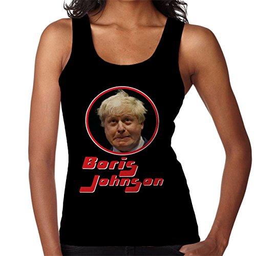 Boris Johnson Retro Photo Frame Women's Vest Black