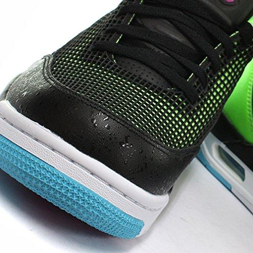 Nike Air Jordan Flight Club 80s Herren Basketball Schuhe Black/Lime