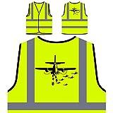 Piloto Avión Regalo Piloto Funny Novelty Chaqueta de seguridad amarillo personalizado de alta visibilidad d782v