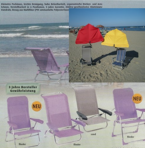 Of sand 2,4 kg portable léger furnLAB chilienne de siège réglable en position rOBUST- sTABIELO-chaise-charge max. : 120 kg - 6 niveaux dossier pliable en surface-sable-innovation fabriqué en allemagne-hOLLY ® produits ® sTABIELO-hOLLY-sunshade ® contre supplément avec hOLLY fÄCHERSCHIRMEN -