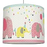 anna wand Lampenschirm FAMILY ELEPHANT – Schirm für Kinder/Baby Lampe mit Elefanten in versch. Farben – Sanftes Licht für Tisch-, Steh- & Hängelampe im Kinderzimmer Mädchen & Junge