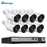 Techage HD H.265 4.0 MP PoE Ensemble de caméra de surveillance système CCTV, caméra IP extérieure affichage de surveillance jour/nuit (4.0MP-BT609A-8CH)
