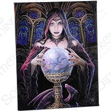 Boladecristal(Crystal Ball) -góticoAngelFortuneTeller-fantásticodiseñodeartistaAnneStokes–fotolienzoenplacade laparedmarco/artedepared