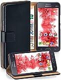 moex Samsung Galaxy Grand Prime | Hülle Schwarz mit Karten-Fach 360° Book Klapp-Hülle Handytasche Kunst-Leder Handyhülle für