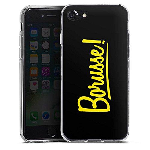 Apple iPhone 7 Silikon Hülle Case Schutzhülle Borusse Borussia Dortmund BVB Silikon Case transparent