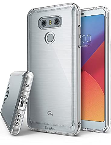 LG G6 / G6 Plus Case, Ringke [FUSION] Crystal Clear PC Back TPU Bumper [Drop Protection/Shock Absorption Technology][Attached Dust Caps] For LG G6 / G6 Plus - Clear