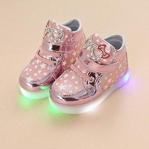 LED Schuhe Kids Light shoes, Stillshine - Girls blinken Sport Running Sneaker Baby shoes Halloween Christmas Gift (25, (Weit Erwachsene Schuhe Draußen)