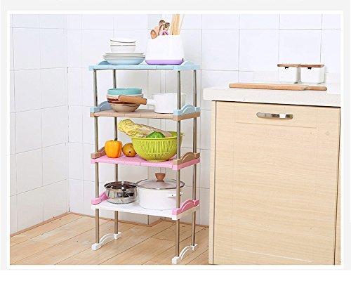 Sotto lavello regolabile impilabile a 2 ripiani storage rack cucina o dispensa organizzazione - Ripiani interni cucina ...