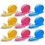 HBselect 9 Stück Türstopper Baby Schnecke Form Finger Klemmschutz Einklemmschutz Kindersicherung zum Schutz von Fingern für Türen und Fenster rosa gelb blau