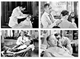 PICSonPAPER Vintage Barbershop, Lot de 4 Posters Non encadrés DIN A4 ou DIN A3 Décoration pour Votre Bar Shop, Coiffure, Rasage, Impression d'art
