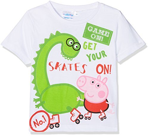 Peppa Pig Activities, Camiseta para Niños, Blanco Optic White, 6 Años