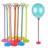 Hongma 6 Stück Luftballons Ständer Halterung mit Blumen Basis Kunststoff Party Dekor
