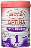 Babybio Lait pour Nourrisson des la Naissance Optima 1 BIO, 900 g - Lot de 3