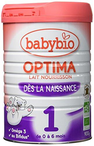 Babybio Lait pour Nourrisson dès la Naissance Optima 1, 900 g - Lot de 3